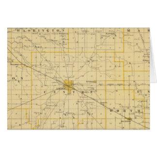 Mapa del condado de Boone Tarjetas