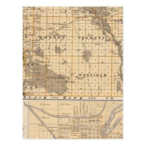 Mapa del condado de Bremer Postal