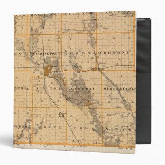 "Mapa del condado de Buchanan, estado de Iowa Carpeta 1 1/2"""