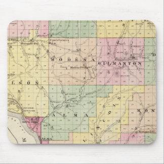 Mapa del condado de Buffalo y del pueblo de Alma Alfombrilla De Raton