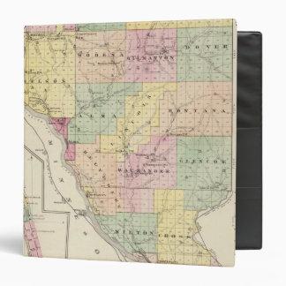 """Mapa del condado de Buffalo y del pueblo de Alma Carpeta 1 1/2"""""""