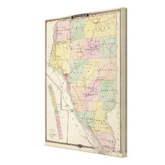 Mapa del condado de Buffalo y del pueblo de Alma Lienzo Envuelto Para Galerias