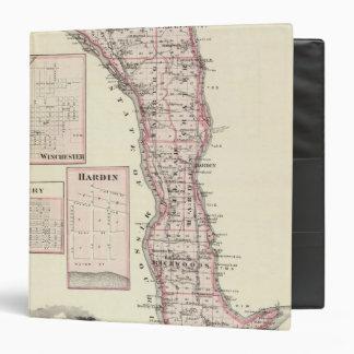 """Mapa del condado de Calhoun, Winchester Carpeta 1 1/2"""""""