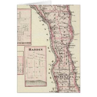 Mapa del condado de Calhoun, Winchester Tarjeta De Felicitación