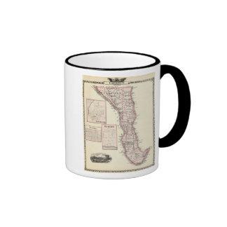 Mapa del condado de Calhoun, Winchester Taza De Dos Colores