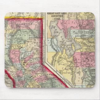 Mapa del condado de California Alfombrillas De Ratones