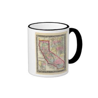 Mapa del condado de California Taza De Dos Colores
