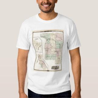 Mapa del condado de Calumet, estado de Wisconsin Playeras