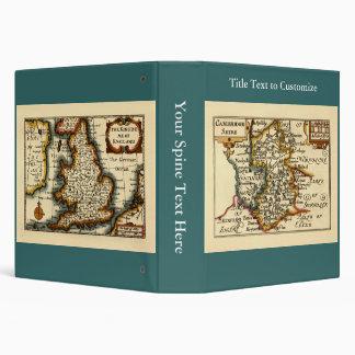 """Mapa del condado de Cambridgeshire, Inglaterra Carpeta 1 1/2"""""""