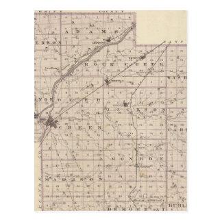 Mapa del condado de Carroll Postal