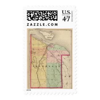 Mapa del condado de Cheboygan, Michigan Sellos