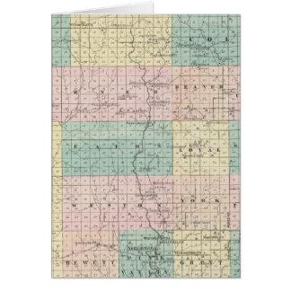 Mapa del condado de Clark, estado de Wisconsin Tarjeton