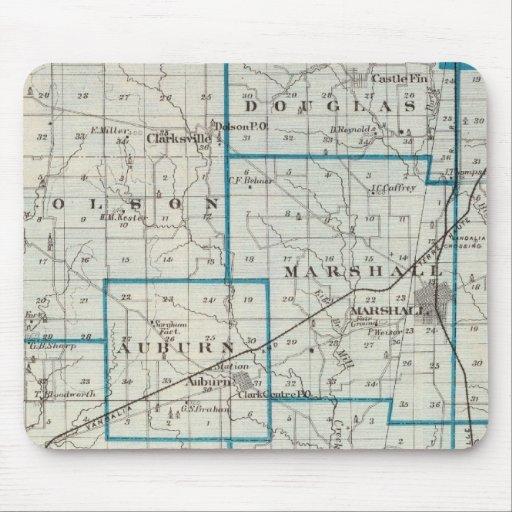 Mapa del condado de Clark Tapetes De Ratones