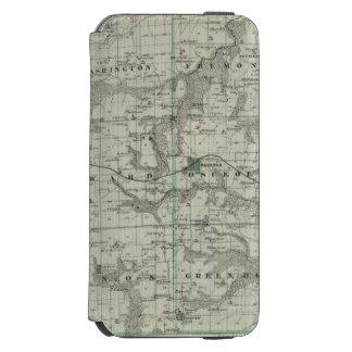 Mapa del condado de Clarke, estado de Iowa Funda Billetera Para iPhone 6 Watson