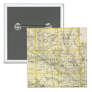 Mapa del condado de Clay, flora y de Louisville Pin