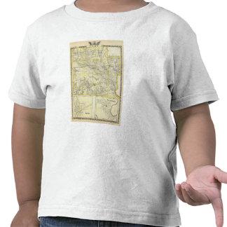 Mapa del condado de Clay, flora y de Louisville Camiseta