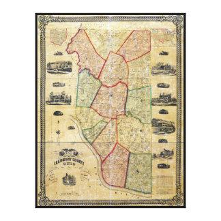 Mapa del condado de Clermont Ohio (1857) Impresión En Lienzo