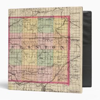 """Mapa del condado de Clinton, Michigan Carpeta 1 1/2"""""""