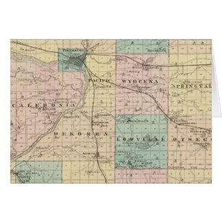 Mapa del condado de Columbia, estado de Wisconsin Tarjetón