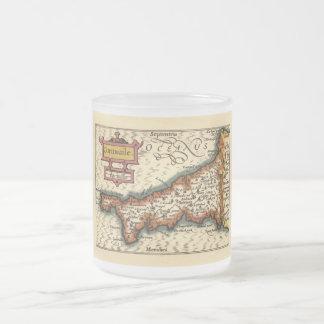 """Mapa del condado de """"Cornwaile"""" Cornualles, Inglat Taza De Café"""
