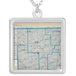 Mapa del condado de Crawford Colgante Cuadrado
