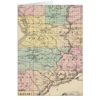 Mapa del condado de Crawford, estado de Wisconsin Tarjeta