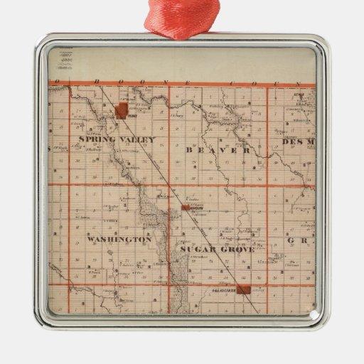 Mapa del condado de Dallas, estado de Iowa Ornato