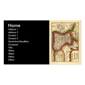 """Mapa del condado de """"Darbyshire"""" Derbyshire, Tarjetas De Visita"""