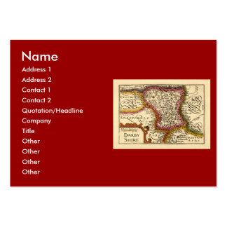 """Mapa del condado de """"Darbyshire"""" Derbyshire, Tarjetas De Visita Grandes"""