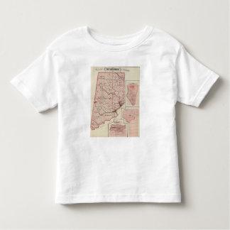 Mapa del condado de Dearborn con Greendale Playera De Bebé