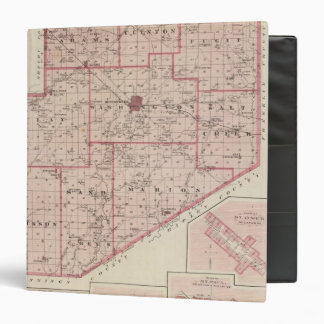 "Mapa del condado de Decatur con St Omer Carpeta 1 1/2"""