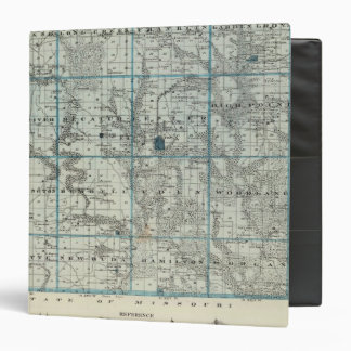"""Mapa del condado de Decatur, estado de Iowa Carpeta 1 1/2"""""""