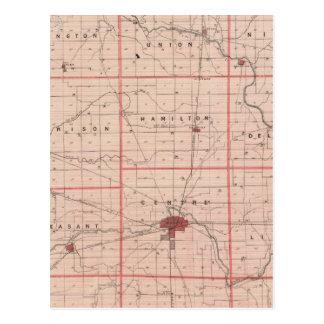 Mapa del condado de Delaware Postal