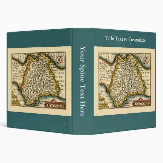 """Mapa del condado de """"Devonshire"""" Devon, Inglaterra Carpeta 1 1/2"""""""