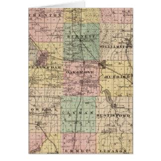 Mapa del condado de Dodge, estado de Wisconsin Tarjeton