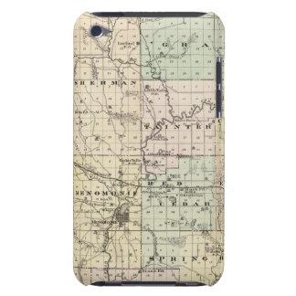 Mapa del condado de Dunn, estado de Wisconsin iPod Touch Case-Mate Carcasas