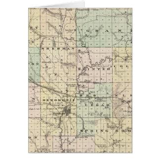Mapa del condado de Dunn, estado de Wisconsin Tarjeton