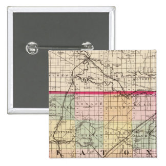 Mapa del condado de Eaton, Michigan Pin Cuadrado