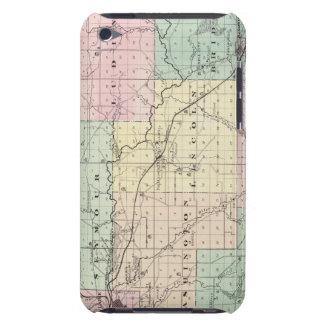 Mapa del condado de Eau Claire, estado de Wisconsi iPod Touch Cárcasas