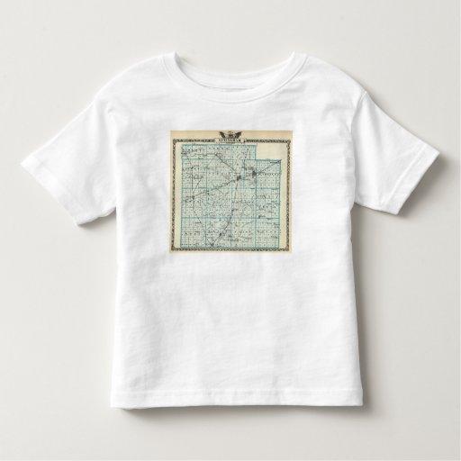 Mapa del condado de Effingham Camisetas