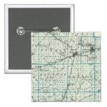 Mapa del condado de Effingham Pin Cuadrada 5 Cm