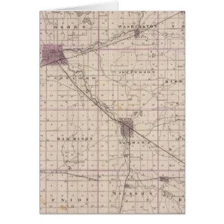Mapa del condado de Elkhart Tarjeta De Felicitación