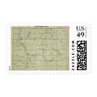 Mapa del condado de Faribault, Minnesota Franqueo