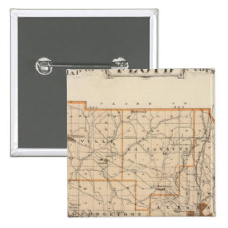 Mapa del condado de Floyd Pins