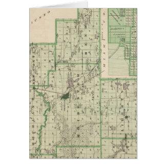 Mapa del condado de Fulton con Rochester, Fulton C Tarjeta De Felicitación