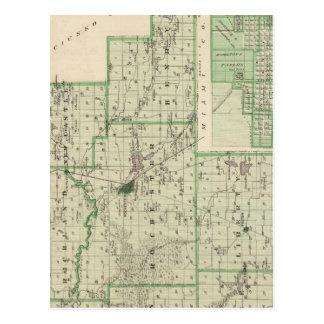 Mapa del condado de Fulton con Rochester, Fulton Tarjeta Postal