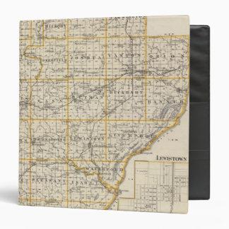 """Mapa del condado de Fulton y de Lewistown Carpeta 1 1/2"""""""