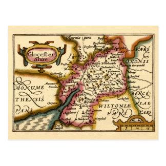 """Mapa del condado de """"Glocestershire"""" Postal"""