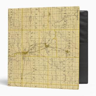"Mapa del condado de Grant Carpeta 1 1/2"""