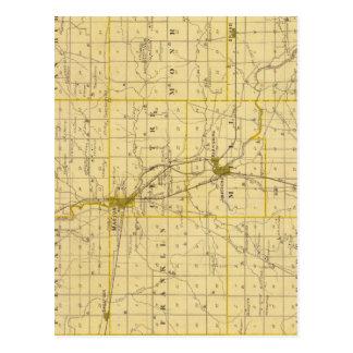 Mapa del condado de Grant Postales